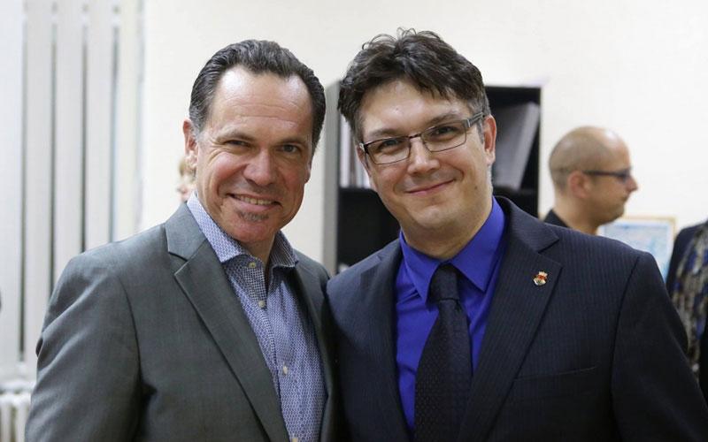Kurt Eling i Nemanja Rotar tokom 18. Pančevačkog džez festivala